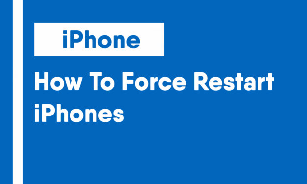 How To Force Restart a iPhone