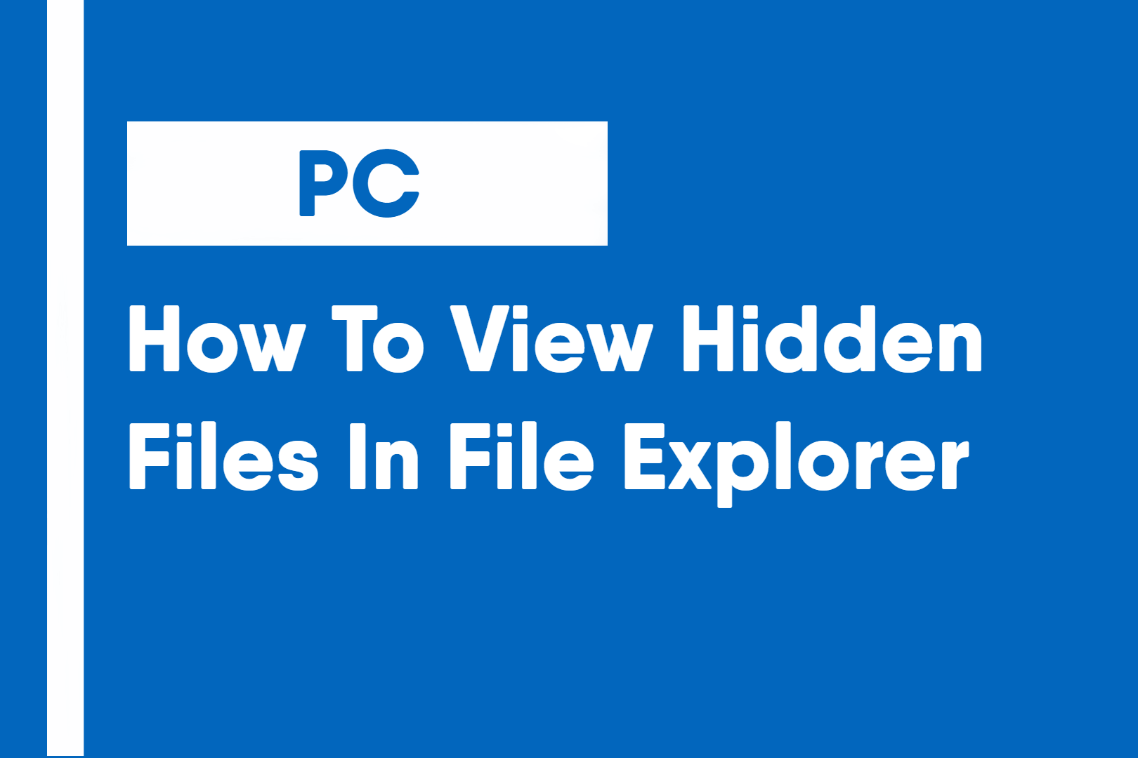 how to view hidden files in file explorer