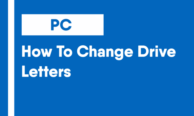 How To Change Drive Letters