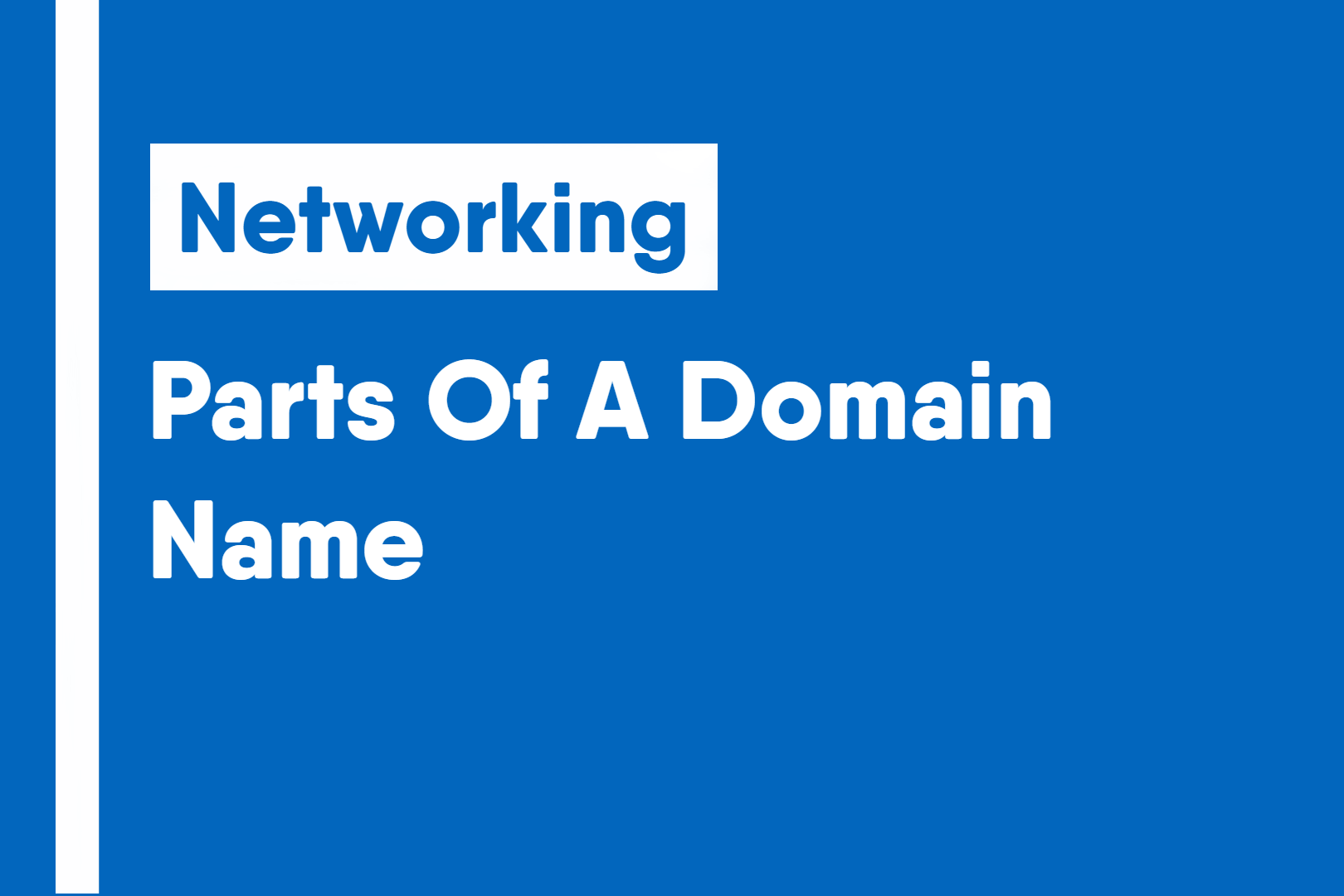 Parts Of A Domain Name