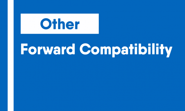 Forward Compatibility
