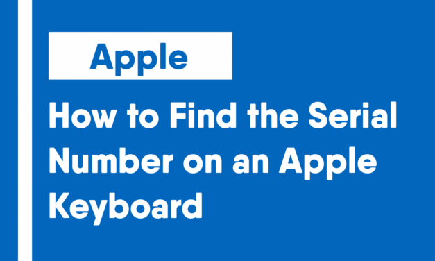 How to Find the Serial Number on an Apple Keyboard