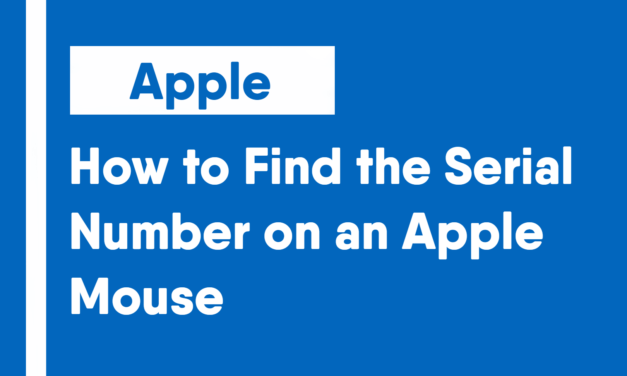 How to Find the Serial Number on an Apple Mouse