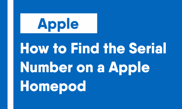How to Find the Serial Number on an HomePod