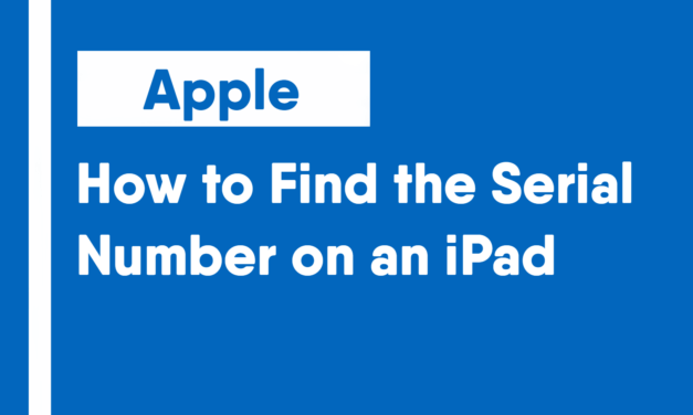 How to Find the Serial Number on an iPad