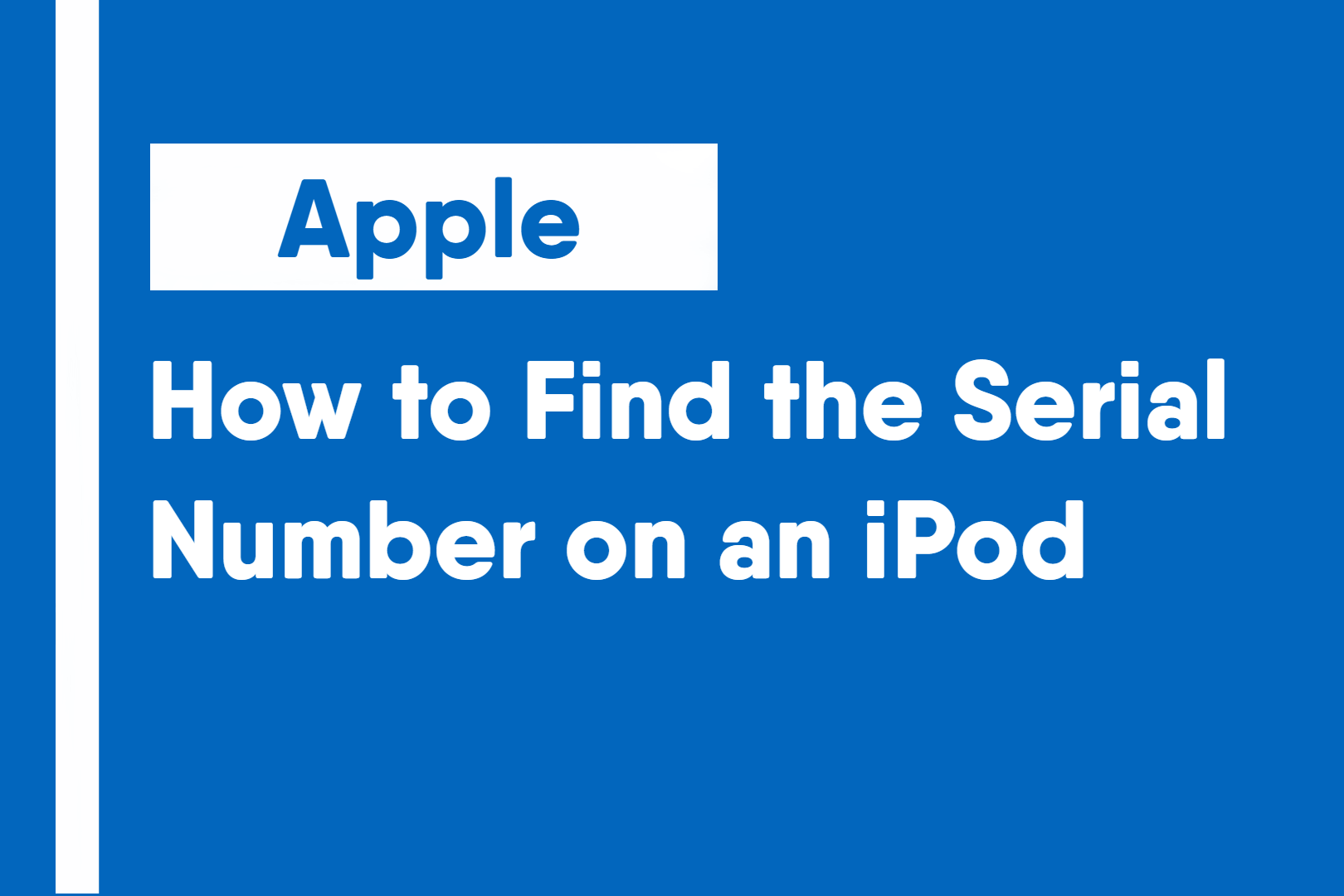 How to Find the Serial Number on an iPod
