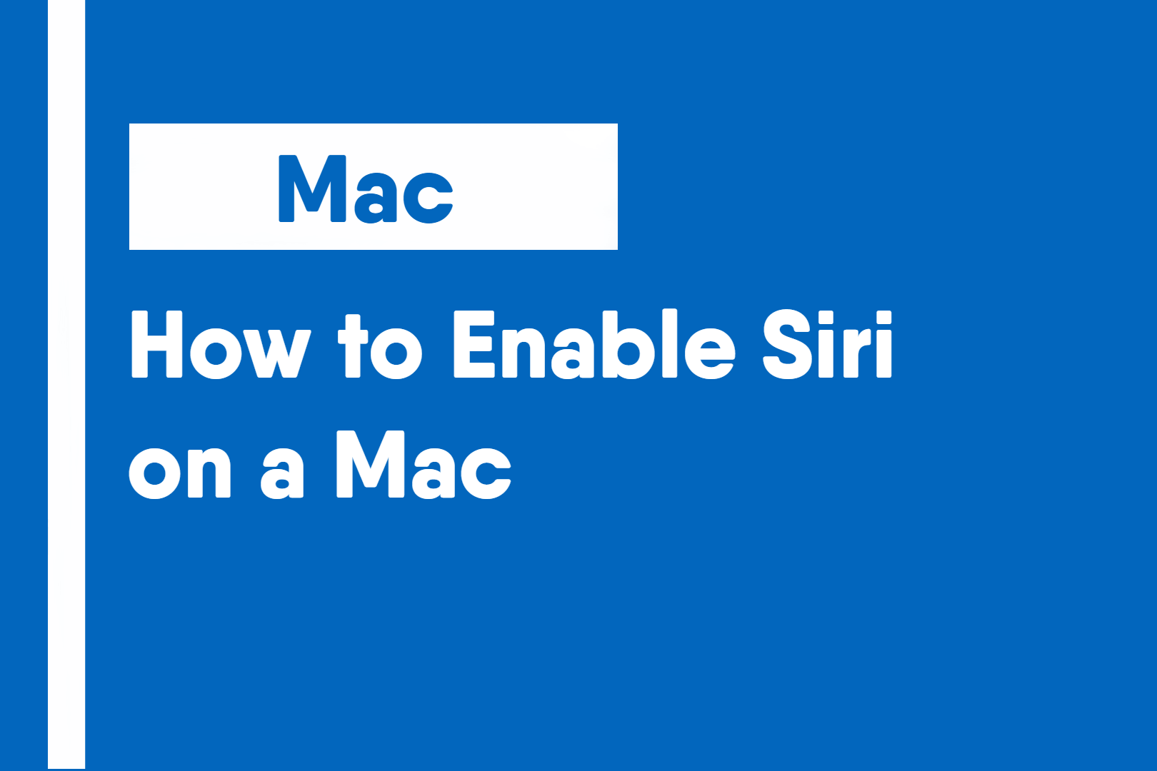 How to Enable Siri on a Mac 1