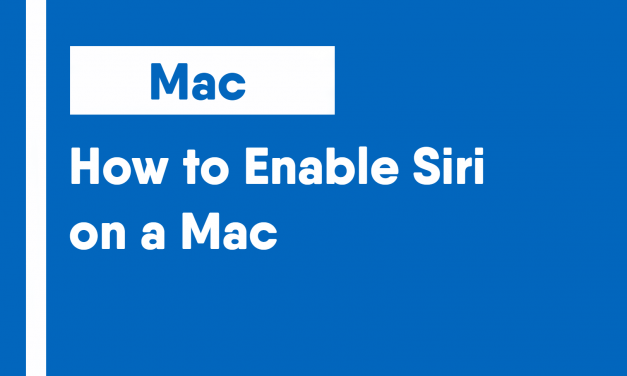 How to Enable Siri on a Mac