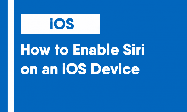 How to Enable Type to Siri on an iOS Device