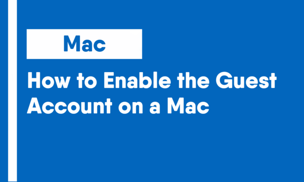 How to Enable the Guest Account on a Mac