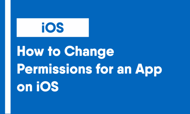 How to Change Permissions for an App on iOS