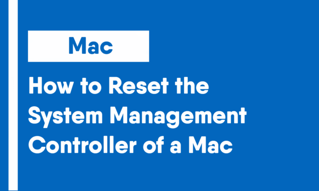 How to Reset the System Management Controller of a Mac