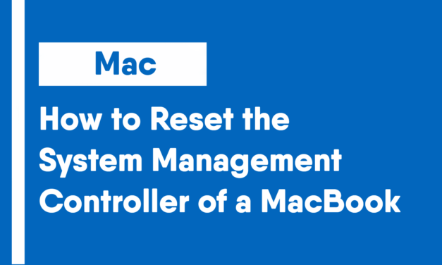 How to Reset the System Management Controller of a MacBook