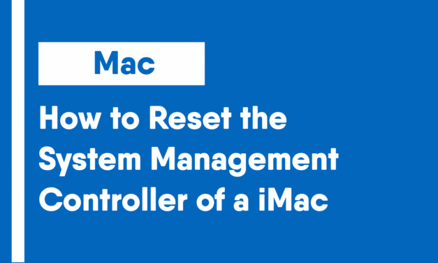 How to Reset the System Management Controller of an iMac