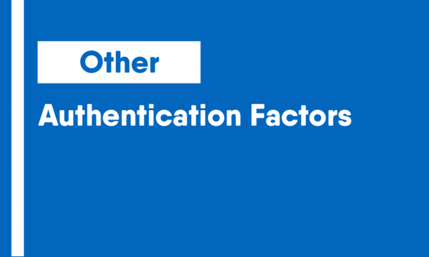 Authentication Factors