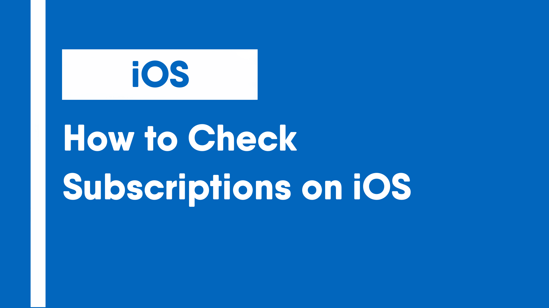 How to Check Subscriptions on iOS