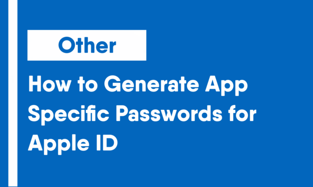 How to Generate App-Specific Passwords for Apple ID