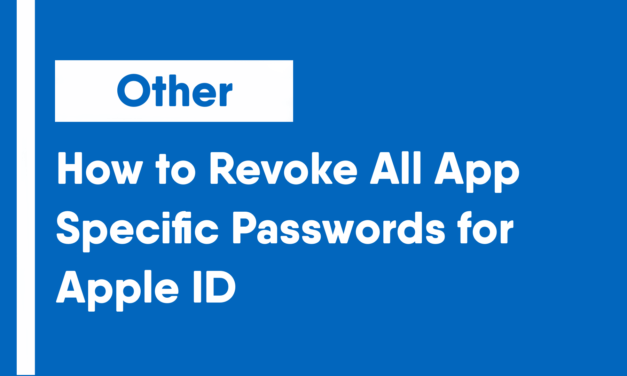 How to Revoke All App-Specific Passwords for Apple ID