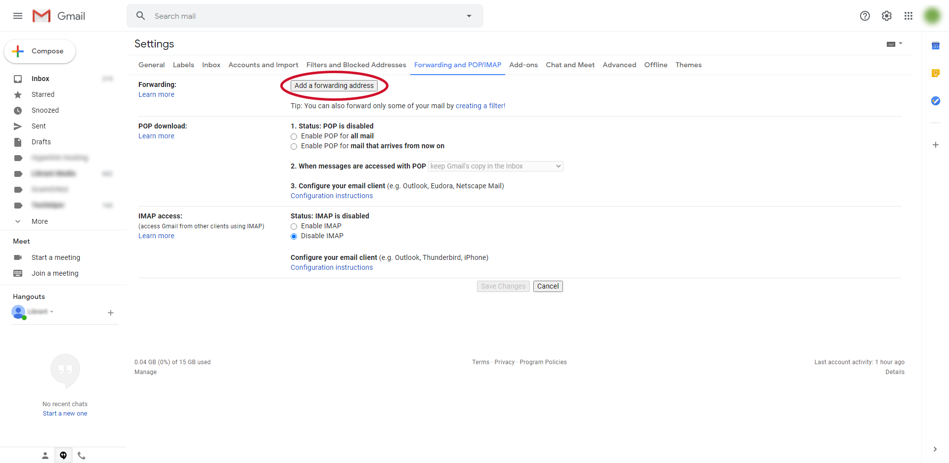 gmail email forwarding step 4