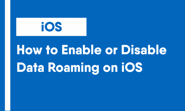 How to Enable or Disable Data Roaming on iOS