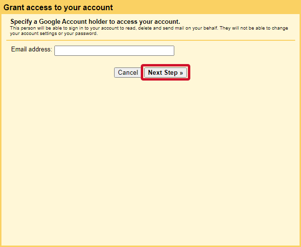 gmail allow access to other accounts step 5