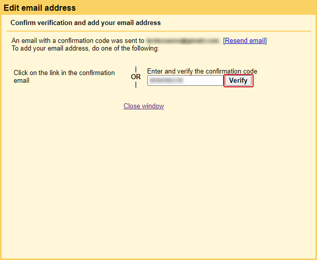 gmail alternate email step 8a2