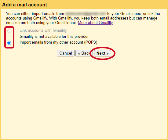 gmail check other emails step 6