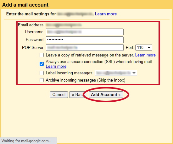 gmail check other emails step 7