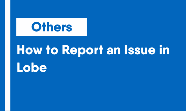 How to Report an Issue in Lobe