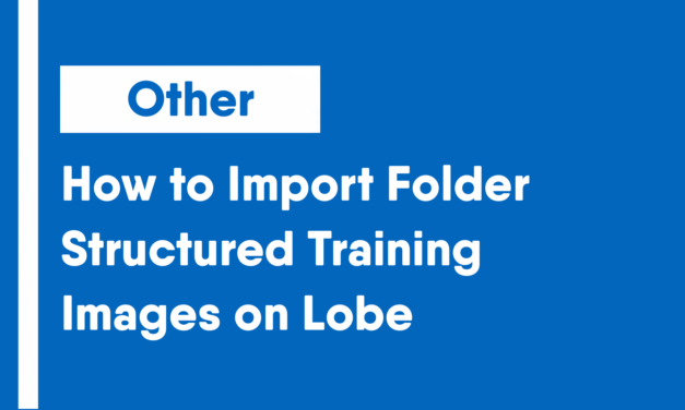 How to Import Folder Structured Training Images on Lobe